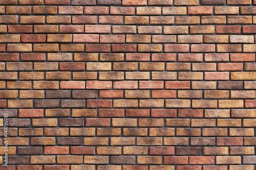 Foto op Plexiglas Wand レンガの壁の背景素材 Brick Wall Texture