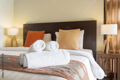 comfortable bedroom Canvas Print