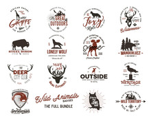 Wild Animal Badges Set. Includ...