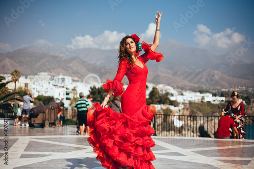Flamenco Dancer in Spain Canvas Print