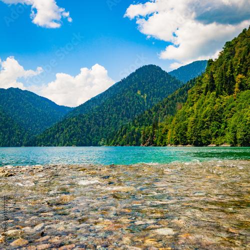 Fototapeta Water landscape.  Lake. beautiful landscape obraz na płótnie