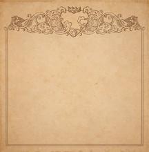 Paper Cardboard With Vintage F...