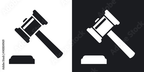 Valokuvatapetti Vector judge gavel icon