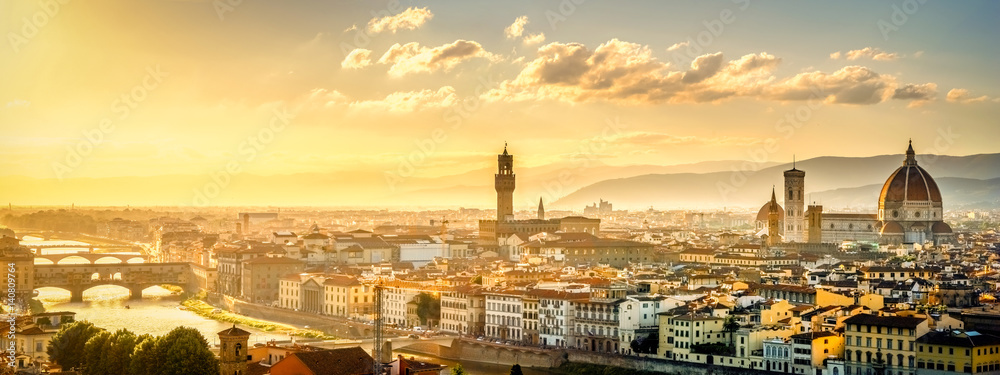 Fototapety, obrazy: Blick über Florenz vom Michel Angelo Platz