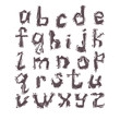 vector letters of latin alphabet