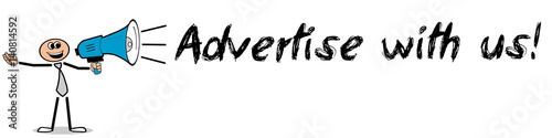 Fotografía  Advertise with us! / Mann mit Megafon