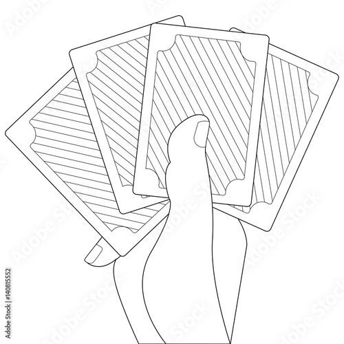 Outline element for coloring book Poster