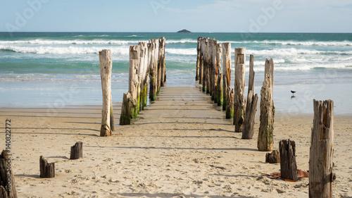 Fotografia, Obraz  Poteaux sur la plage
