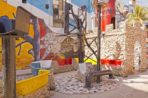 Graffiti in Alley Hamel in Havana, Cuba Wallpaper Mural