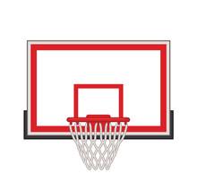 Basketball Hoop With Rectangular Backboard