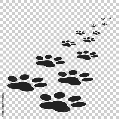 Paw print icon vector illustration isolated on isolated background Fototapete