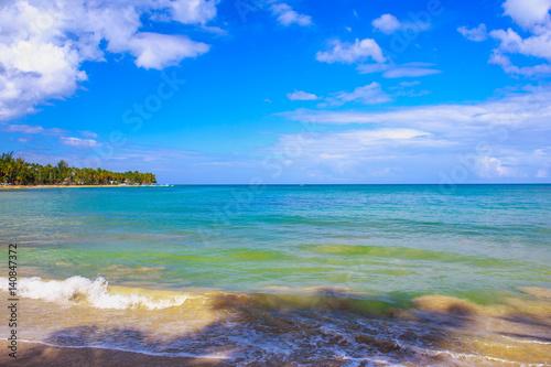In de dag Afrika Beautifull beach in Dominican Republic. Blue sea and sky