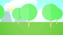 Loopable 2D Endtag Forest Back...