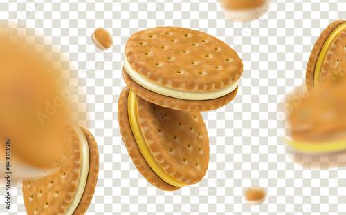 Obraz na plátne cheese sandwich cookies