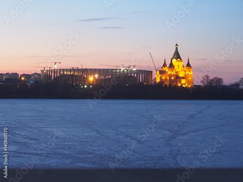Foto op Plexiglas Stadion Nizhny Novgorod, Russia. Construction of the stadium for the World Cup 2018.