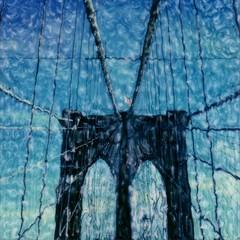 FototapetaBrooklyn Bridge polaroid painting artwork.