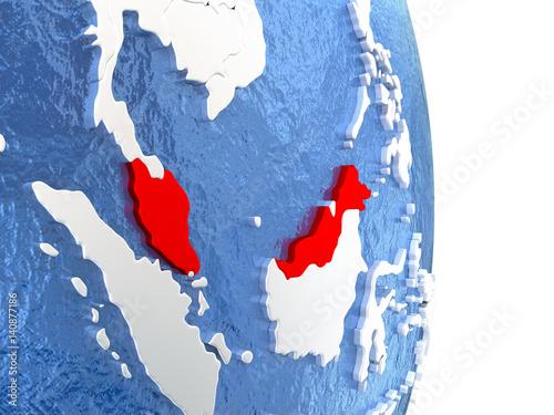 Printed kitchen splashbacks Fairytale World Malaysia on shiny globe with water
