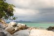 Bright shore of paradise islands