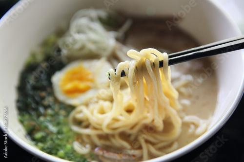 tonkotsu noodle ranmen Japanese food Canvas Print