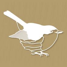 Robin Bird Design For Plotter Or Laser Cutting. Vector Illustrations