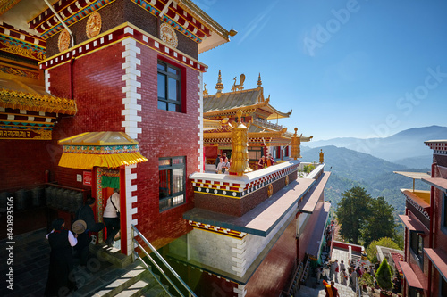 Foto auf AluDibond Nepal Thrangu Tashi Yangtse Monastery (Namo Buddha) in Nepal