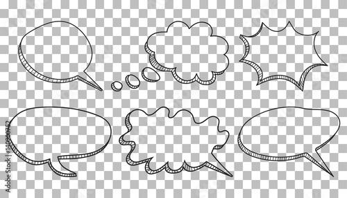 Speech bubbles icon set Fototapet