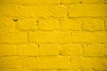 Bright Yellow Brick Wall, Larg...