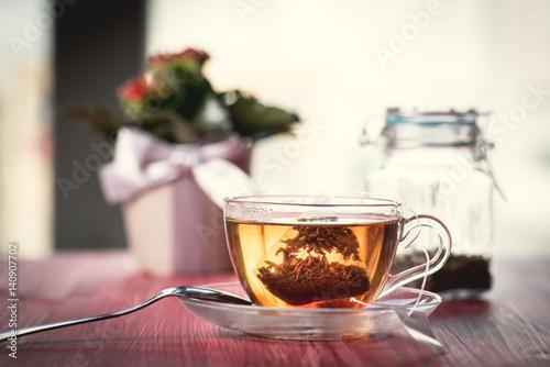 Staande foto Thee Someone preparing tea