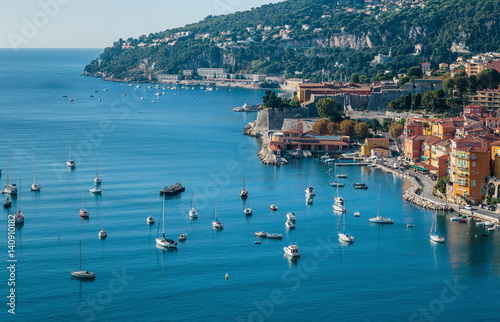 Fotografie, Obraz  Panoramic view of Cote d'Azur near the town of Villefranche-sur-Mer