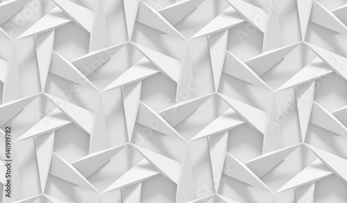White shaded abstract geome...