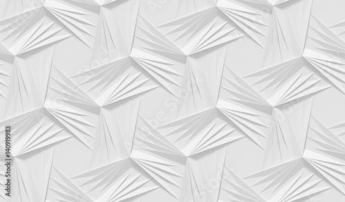 bialy-cieniowany-abstrakcyjny-wzor-geometryczny-styl-papieru-origami-renderowania-3d