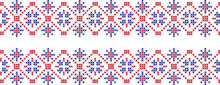 Embroidered Cross-national Pattern