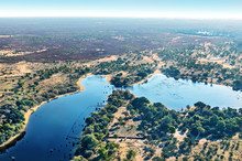 Okavango Delta (Okavango Grassland) Is One Of The Seven Natural Wonders Of Africa (view From The Airplane) - Botswana