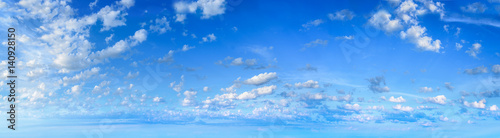 Poster de jardin Ciel Panorama of the blue sky with clouds