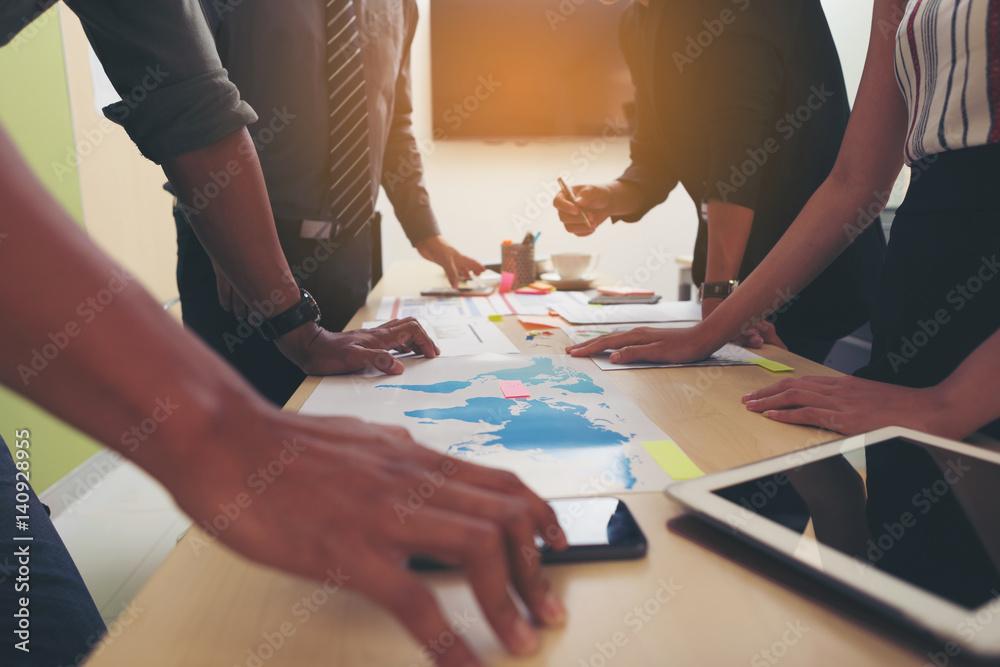 Fototapeta Business People Meeting Corporate Teamwork Collaboration Concept