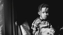African Boy Looking Away