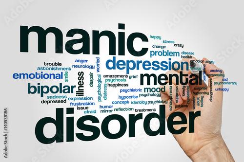 Manic disorder word cloud concept Tapéta, Fotótapéta