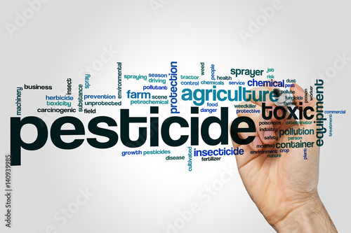 Fotografía  Pesticide word cloud