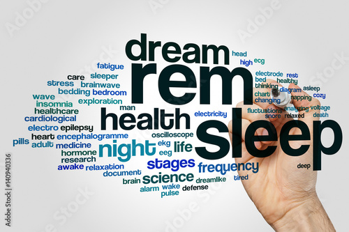 REM sleep word cloud Canvas Print