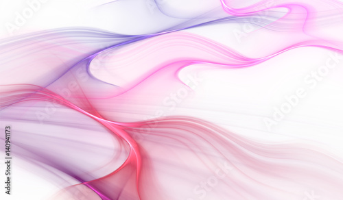 Abstract blue and red color wavy background