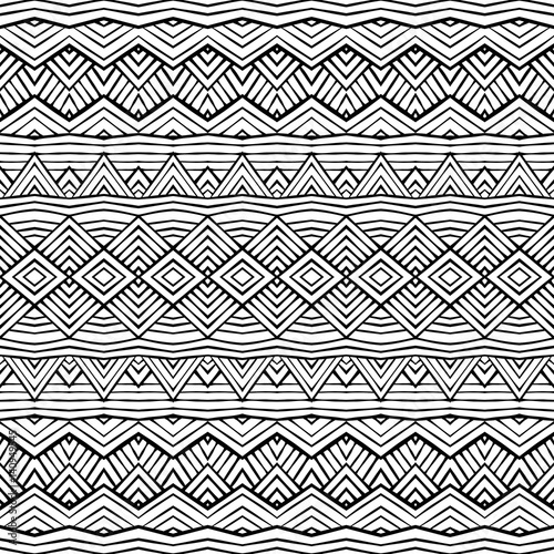 In de dag Boho Stijl Graphic ethnic ornament stripes design. Vector seamless texture for wallpapers, pattern fills, web page backgrounds