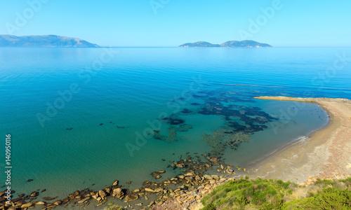 Poster Cote Morning sea coast Albania.