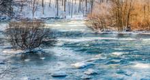 Niagara Falls Upper River In Winter