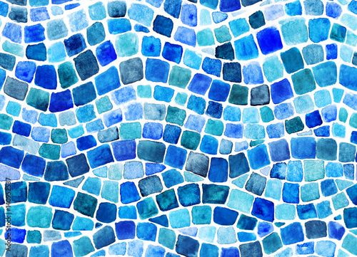 Photo Wave blue mosaic