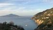 Vico Equense view to Vesuvius, Sorrento, Naples, Italy, 4K