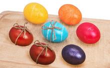 Eggs On Wood Tray