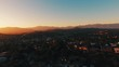 Los Angeles Aerial POV at sunset