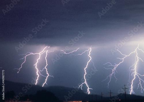 Printed kitchen splashbacks Storm Lightning