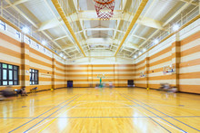 Interior Of Empty Basketball C...