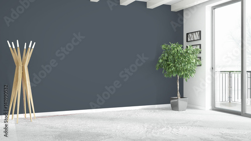Aluminium Prints Bonsai Modern bright interior . 3D rendering